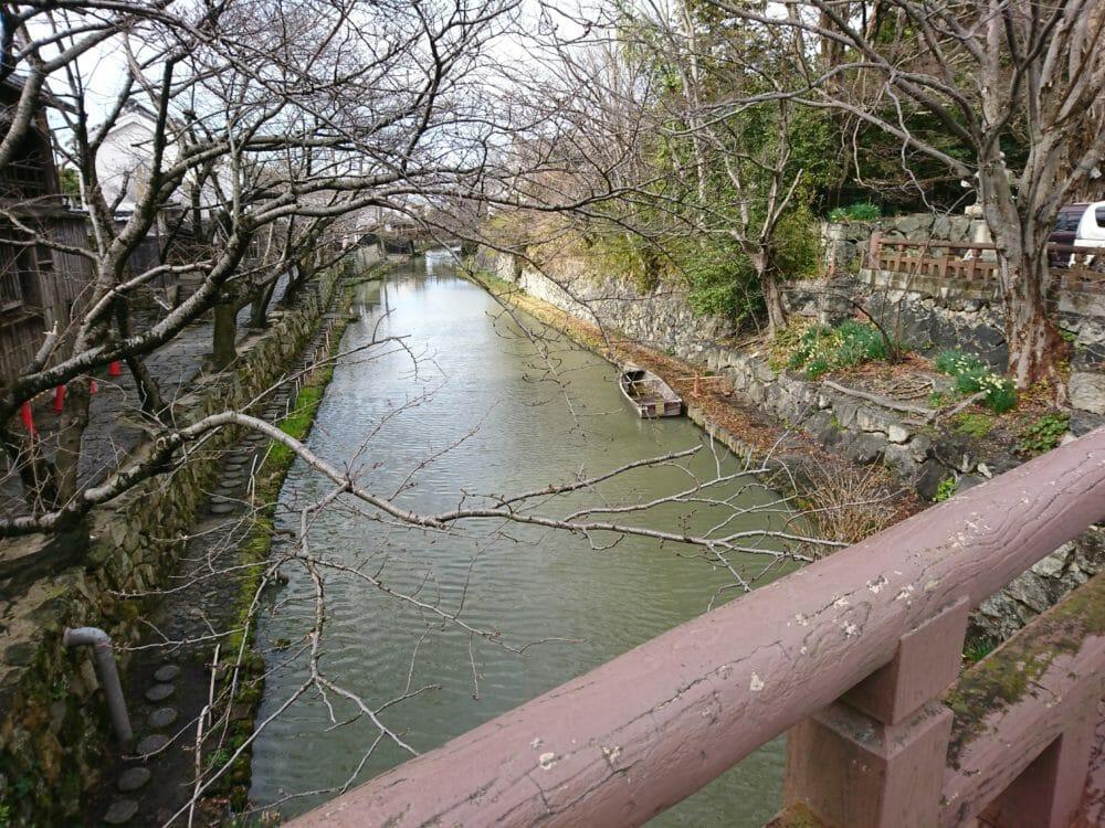 近江八幡にある日牟礼八幡宮の近くにある白雲橋